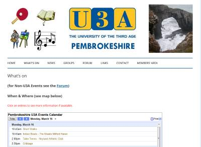 Pembrokeshire u3A